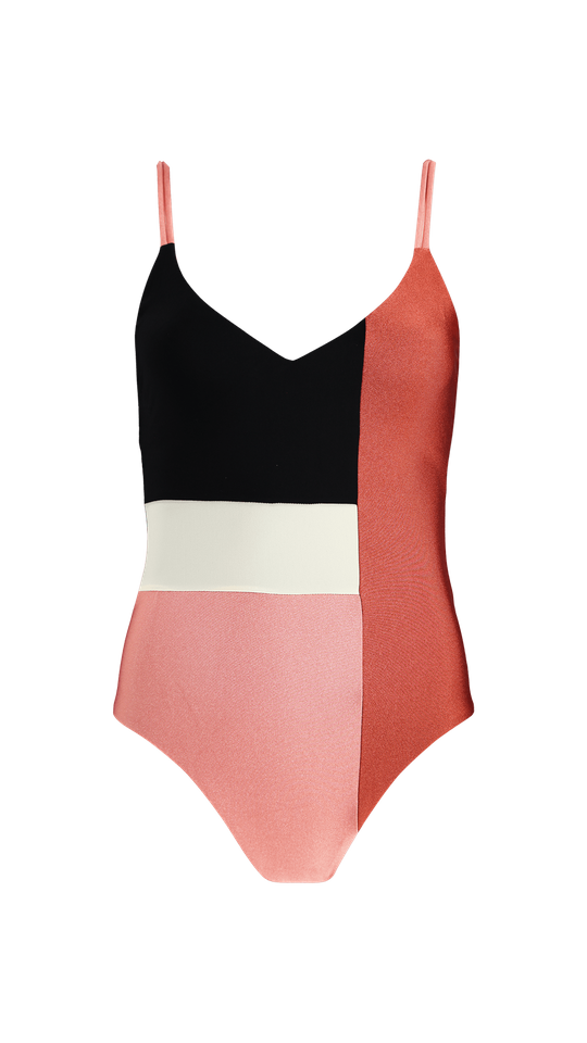 Lourdes V-Neck One Piece